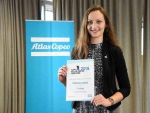 Kristína Lorková výherkyně Cena Atlas Copco Services