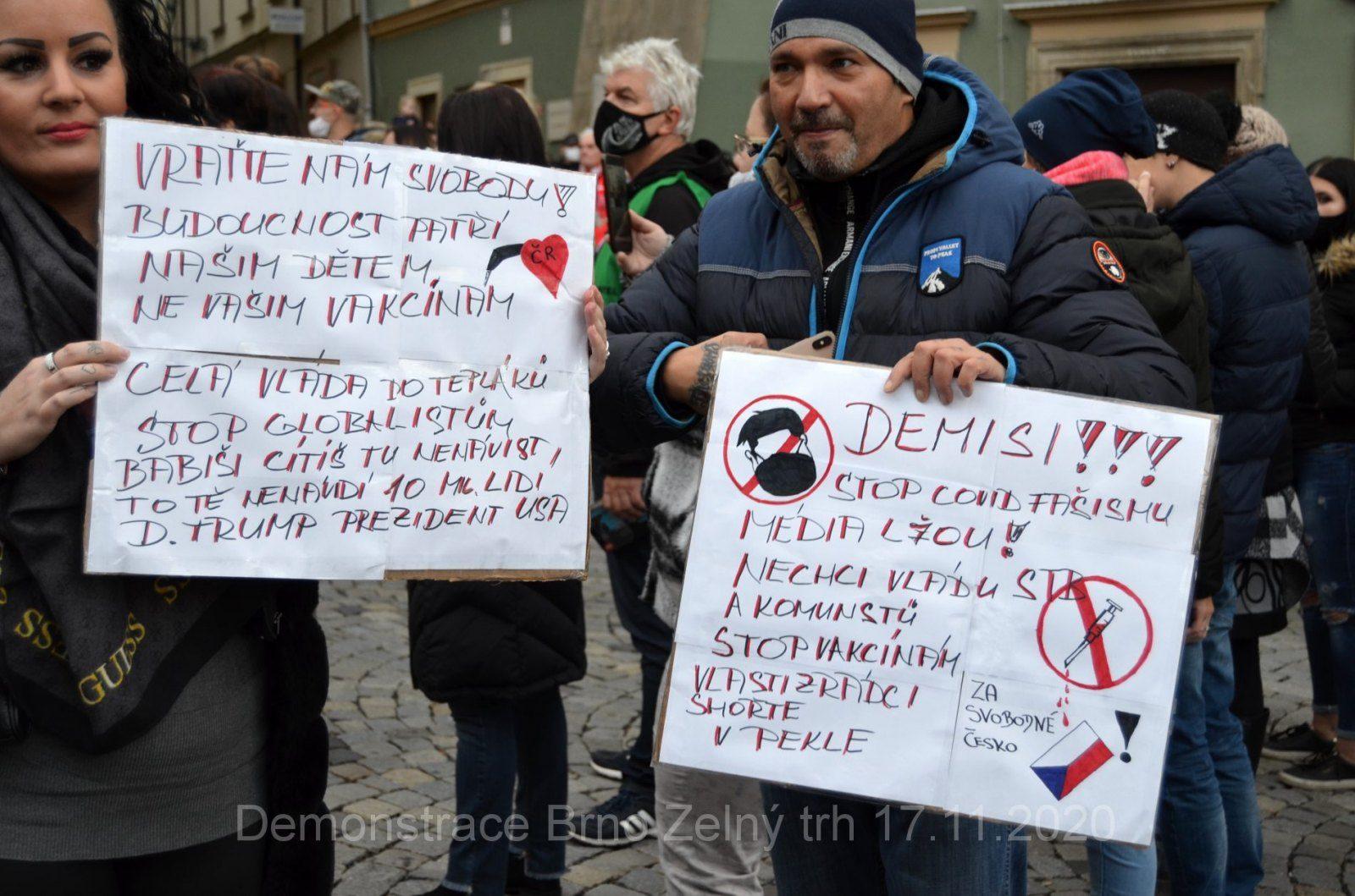 Demonstrace za svobodu a proti vládním opatřením