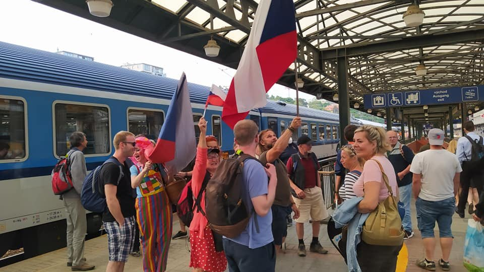 demonstrace Praha 9 6 2021